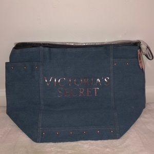 Denim Victoria's Secret Tote Bag